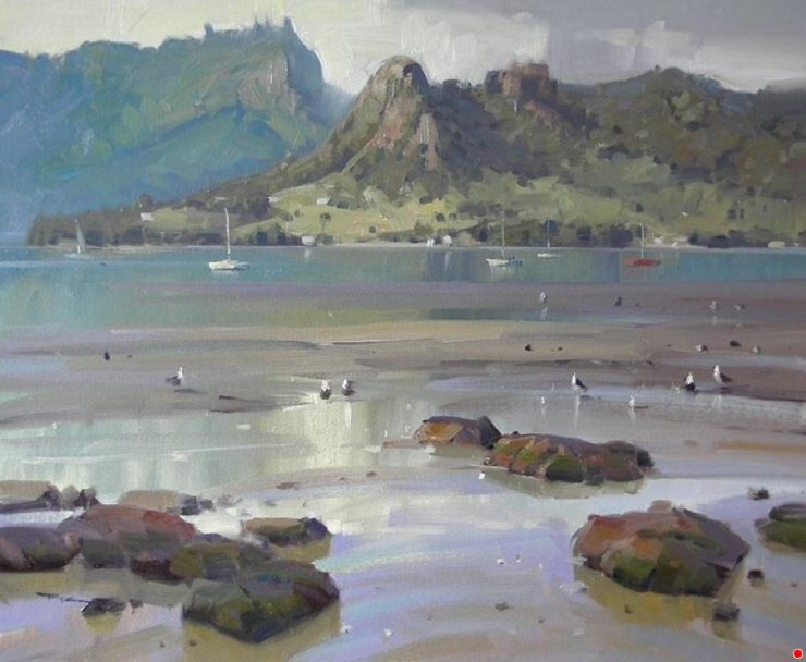 Low Tide, One Tree Point, by Richard Robinson