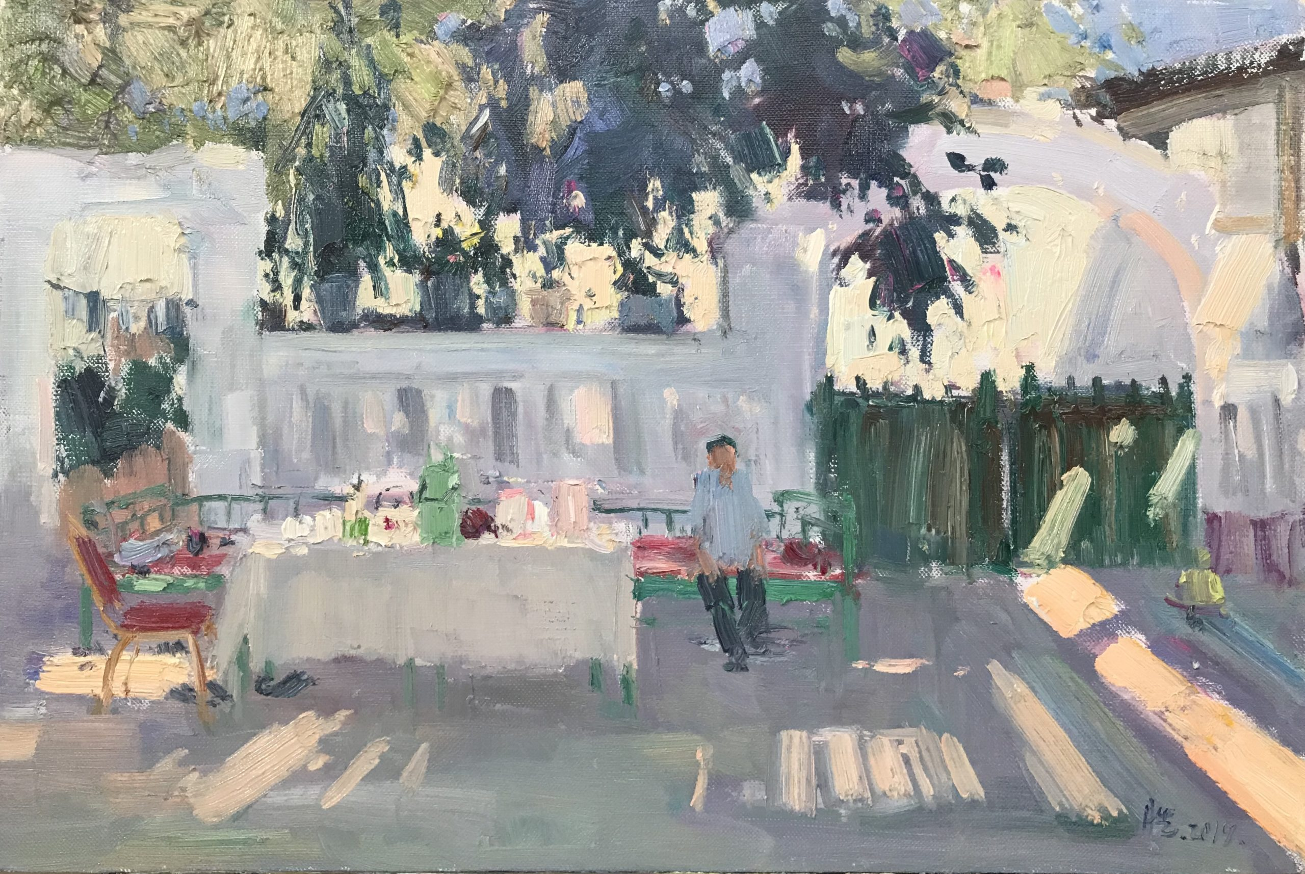 Video Of Exhibition of Plein Air Work in China by Meng Qing Sheng 2