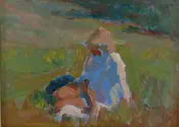 Girl in a Meadow by Barry John Raybould